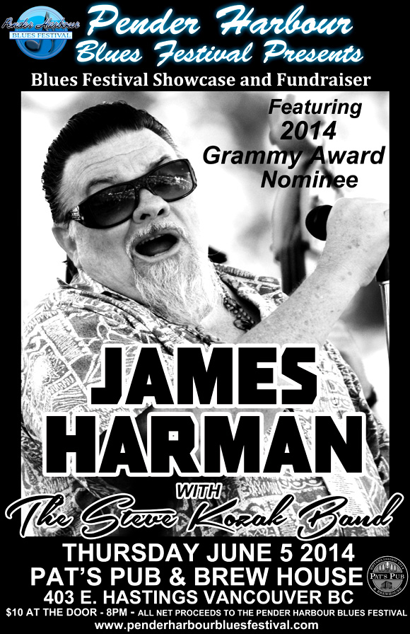 Pre-Festival Fundraiser with James Harman